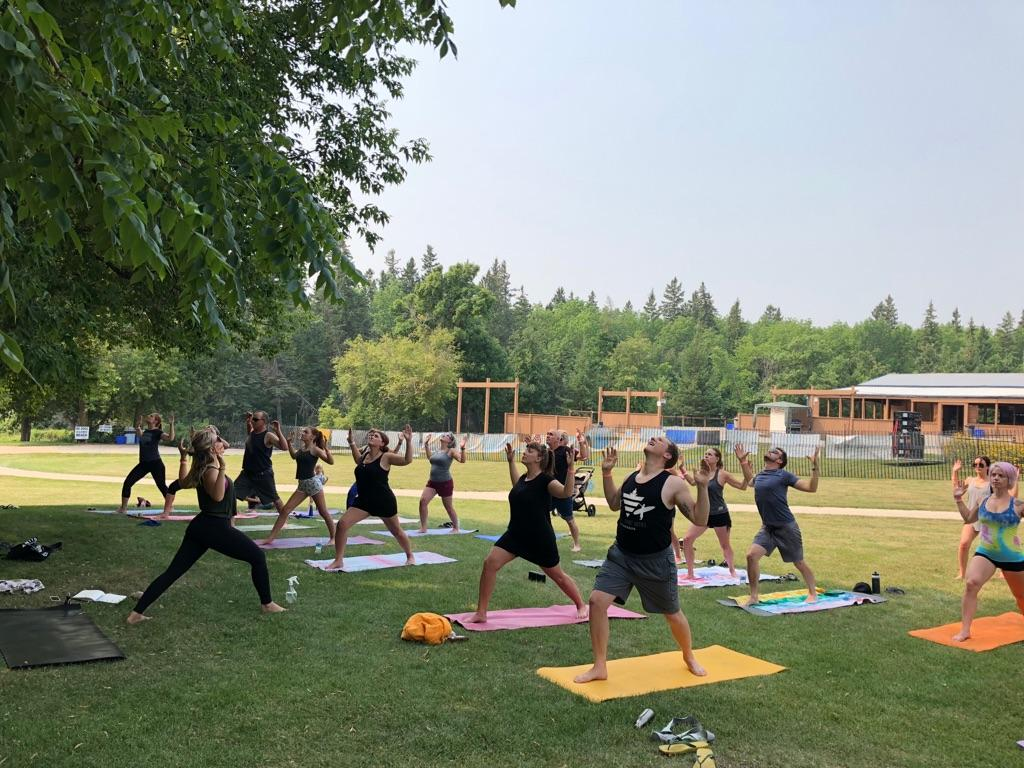YOGA at Great Woods Park in the Moonrise Cabana Summer of